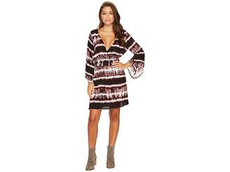 BB Dakota Laina Printed Rayon Crepe Kimono Dress Women's Dress
