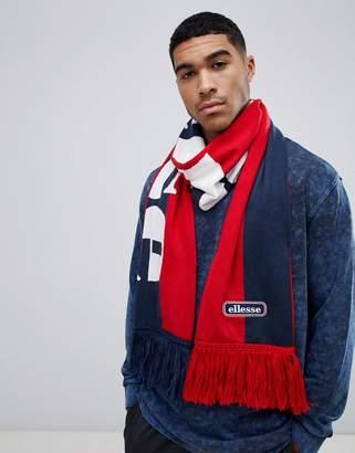 Ellesse Leppy block panel scarf in navy