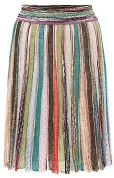 Missoni Metallic crochet skirt
