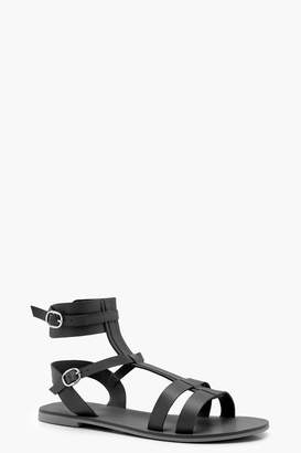 boohoo Wide Fit Multi Strap Gladiator Sandals