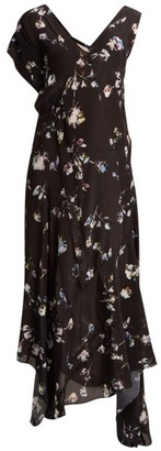 Preen Line Dana Floral Print Midi Dress - Womens - Black Multi