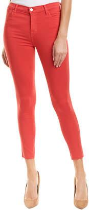 J Brand Alana Carmine High-Rise Skinny Crop