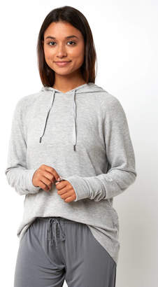 PJ Salvage Heather Grey Solid Hooded Pullover