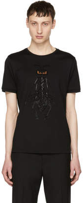 Fendi Black Crystal-Embellished Super Bugs T-Shirt