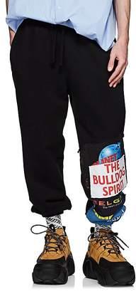 Vetements Men's Patchwork Cotton-Blend Oversized Sweatpants