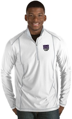 Antigua Men's Sacramento Kings Tempo Quarter-Zip Pullover