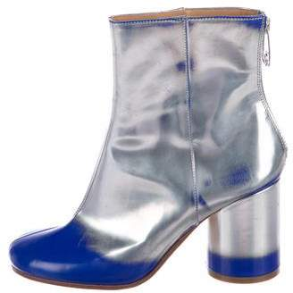 Maison Margiela Metallic Round-Toe Boots