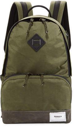 Shinola Men's Rambler Backpack with Suede Trim