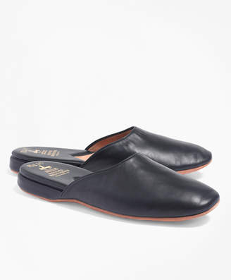 Brooks Brothers Nappa Backless Slippers