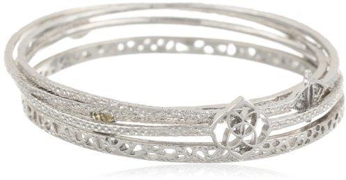 "Kendra Scott Signature"" Jordana Rhodium Plated Bangle Bracelet, 2.63"""