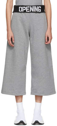 Opening Ceremony Grey Elastic Logo Crop Lounge Pants