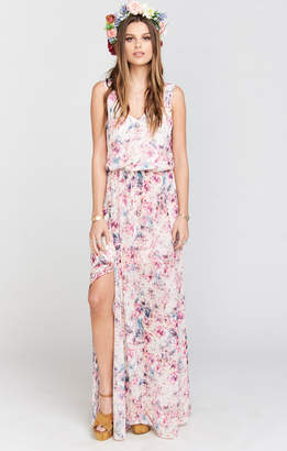 Show Me Your Mumu Kendall Maxi Dress ~ Green Wedding Shoes Floral