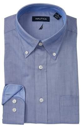 Nautica Indigo Oxford Stretch Classic Fit Dress Shirt