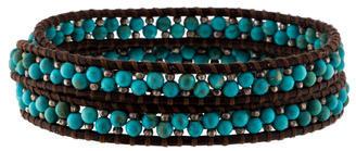 Chan LuuChan Luu Turquoise & Silver Bead Wrap Bracelet
