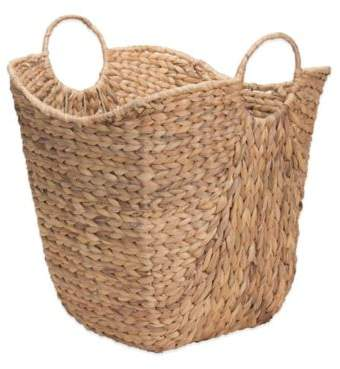 Water Hyacinth Wicker Basket with Handles