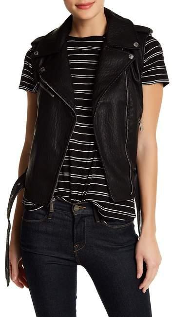 BCBGenerationBCBGeneration Faux Leather Asymmetrical Zip Moto Vest
