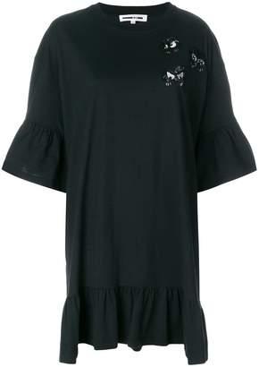 McQ embellished monster patch T-shirt dress