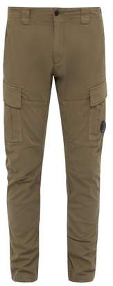 C.P. Company Lens Cotton Twill Cargo Trousers - Mens - Grey