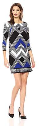 Vince Camuto Women's Patterned Long Sleeve T Body Dress