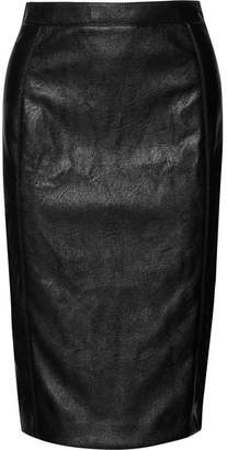 Stella McCartney Faux Leather Pencil Skirt - Black