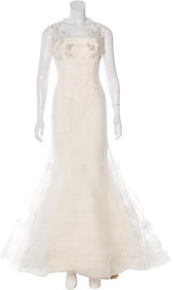 Vera Wang Georgina Lace Wedding Gown Set $1,195 thestylecure.com