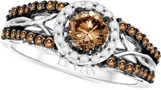 LeVian Le Vian Bridal® Diamond Openwork Ring (9/10 ct. t.w.) in 14k White Gold