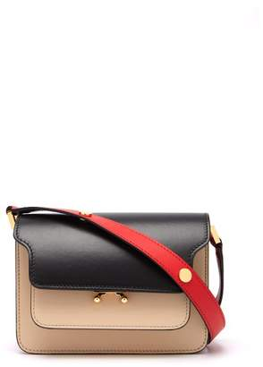 Marni Trunk Mini Leather Cross Body Bag - Womens - Black Multi