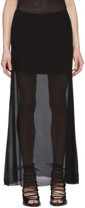 Ann Demeulemeester Black Double Layer Skirt
