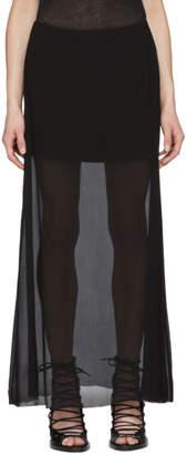 Ann Demeulemeester Black Double Layer Skirt