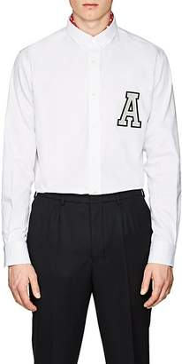 "Ami Alexandre Mattiussi Men's ""A"" Cotton Gabardine Button-Down Shirt"