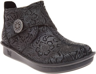 Alegria Leather Ankle Boots with Cross Strap - Caiti