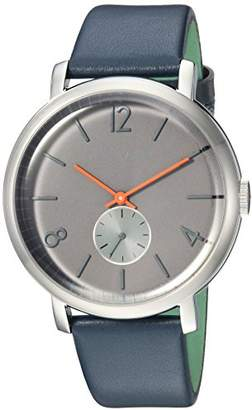 Ted Baker Men's 'Oliver' Quartz Stainless Steel and Leather Casual Watch