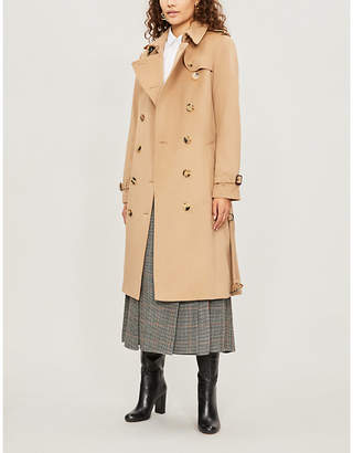 Burberry The Heritage Long Kensington cotton trench coat