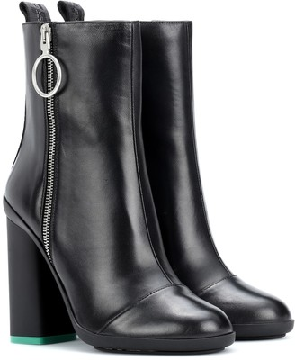 Off-White Off White Leather ankle boots