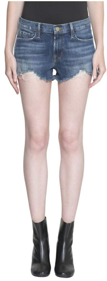 Le Cutoff Denim Cotton Shorts