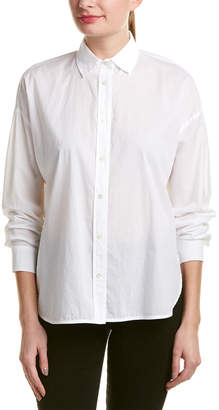 Vince Easy Shirttail Front Blouse
