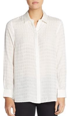 Bryony Houndstooth Jacquard Blouse $228 thestylecure.com