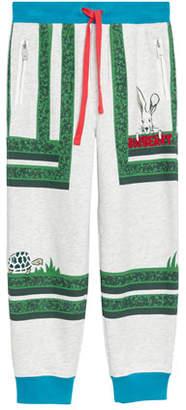 Burberry Maze-Print Cotton Jogger Pants, Size 3-8