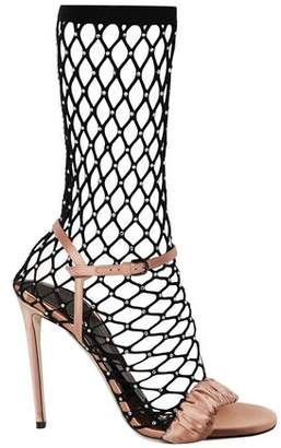 Marco De Vincenzo Embellished Mesh And Satin Pumps