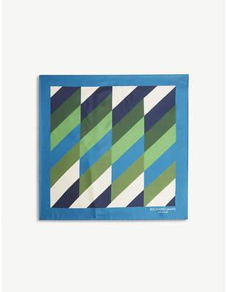Richard James Patterned silk pocket square