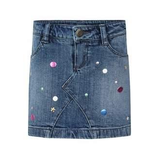 Little Marc Jacobs Little Marc JacobsBlue Star Denim Skirt