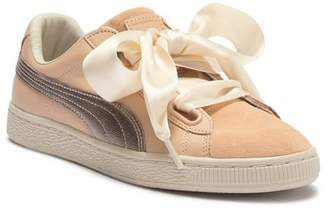 Puma Basket Heart Up Leather & Suede Sneaker