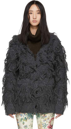 Junya Watanabe Grey Furry Cardigan