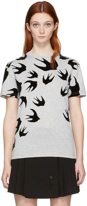 McQ Alexander Mcqueen Grey Swallow T-Shirt $235 thestylecure.com
