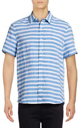 Michael Bastian Striped Linen Sport Shirt