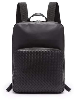 Bottega Veneta Intrecciato Leather Backpack - Mens - Black 82c9cbae3586d