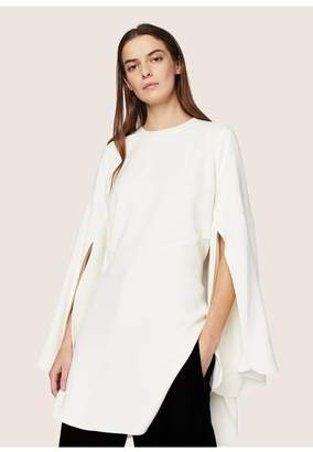 Derek Lam Long Sleeve Cape Blouse