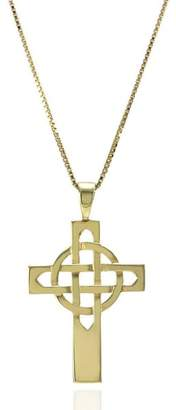 Celtic 14K Yellow Gold Cross Pendant