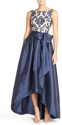 Women's Adrianna Papell Embroidered Lace & Taffeta Ballgown $249 thestylecure.com