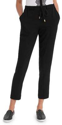 Karl Lagerfeld Paris Drawstring Cropped Pants